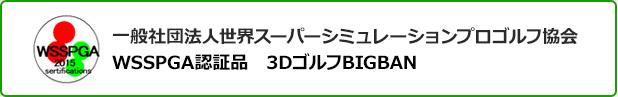 一般社団法人世界スーパーシミュレーションプロゴルフ協会WSSPGA認証品 3DゴルフBIGBAN